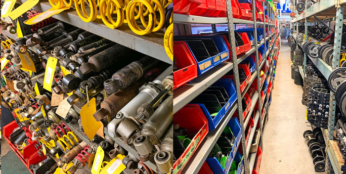 used snowmobile shocks and suspensions